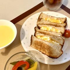 玉子サンド/ブランパン🍞 break fast☕️ ブランパンでH…