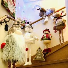 カインズ/Xmas人形/インテリア/クリスマスツリー/階段/ハンドメイド/... 我が家のクリスマスツリー🎄は、 3年目を…(6枚目)