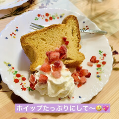 tea time☕️/シフォンケーキ 休憩Time😁✌🏻☕️  今日は、デコパ…(2枚目)