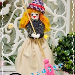 Seria/ミニチュアセーターと帽子 ずっと考えていたミニホウキ🧹人形😁💦 セ…