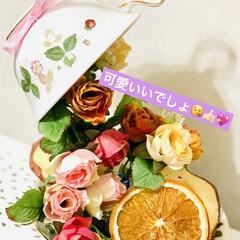 カップ&ソーサー/ドライフルーツ/ダイソー/セリア/ハンドメイド/雑貨/... good morning💐  カップ&ソ…(2枚目)