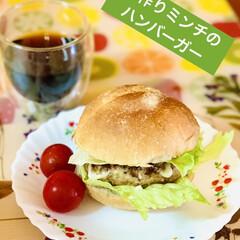 キッチンエイド/ハンバーガー/手作りミンチ/launch launch🍔  キッチンエイドで作った…(1枚目)