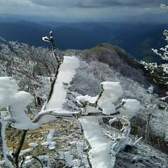 霧氷/冬山/登山/冬 高見山の霧氷 関西のマッターホルンと言わ…