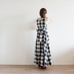 coca/コーディネート/プチプラ/ワンピース/ファッション/夏ファッション/... 大好きなチェックワンピース✨ 夏はワン…