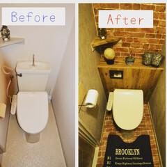 プラダン/タンクレストイレ/簡単DIY/セリア/ダイソー/100均/... プラダンで簡単タンクレストイレを作ってみ…