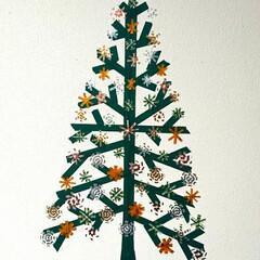 クリスマス2019/セリア/100均 セリアで買ったマスキングテープで壁に描い…(1枚目)