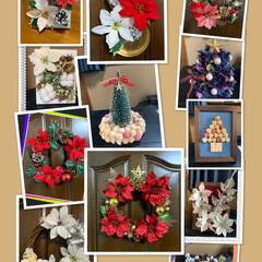 メリクリ/クリスマス雑貨達/クリスマス2019/キャンドゥ/ダイソー/セリア/... 今年作ったクリスマス雑貨達💕 皆様の真似…