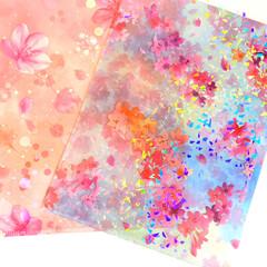 100均/セリア/雑貨/クリアファイル/書類整理 セリアの桜🌸クリアファイルが可愛い💕  …