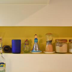 キッチン/リノベーション デッドスペースを利用したスパイスラックに…