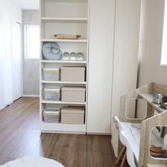 整理収納/可動間仕切棚/ライフステージの変化/家づくり/棚/間仕切り/... 2階の2つの部屋を仕切っていた壁を取り外…(1枚目)