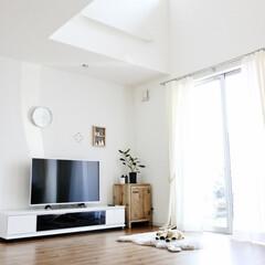 リビング/癒し空間/すっきり暮らす/リセット/暮らしの見直し/拭きぬけ/... ソファなどを外してきれいに お掃除。 す…