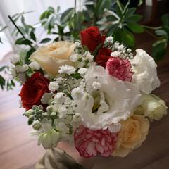 ミニブーケ/お花/月命日 行きつけのお花屋さんで売ってるミニブーケ…