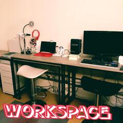 書斎/パソコンスペース/机収納/フォロー大歓迎/令和カウントダウン/春/... 今日は、2人の仕事スペースを模様替え。 …