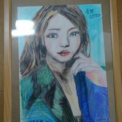 安室奈美恵の絵/あけおめ/フォロー大歓迎/冬/おうち/年末年始/... 絵を描きました‼️足痛いです❗安室奈美恵…