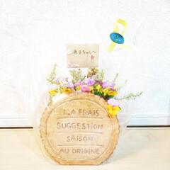 ガーデン雑貨/ビスケット/感謝/花のある生活/花のある暮らし/アンティーク/... お義母さんから誕生日プレゼント🎁が届きま…