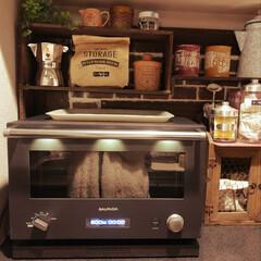 オーブンレンジ/バルミューダ/DIY/100均/セリア/ニトリ/... 我が家にバルミューダのオーブンレンジがや…