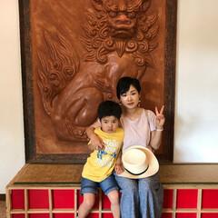 シーサー/わたしのGW 沖縄のホテル。ここにも大きなシーサー!写…