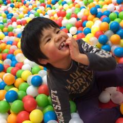 ボールプール/おでかけワンショット ボールプールで思いっきりはしゃいで笑いが…