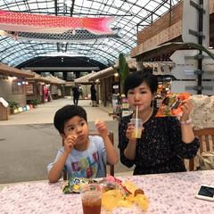 休憩タイム/わたしのGW 沖縄の琉球村で沖縄のお菓子とシークワーサ…