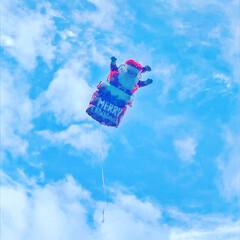 サンタさん/クリスマス2019 サンタさんの風船が飛んで行っちゃいました…
