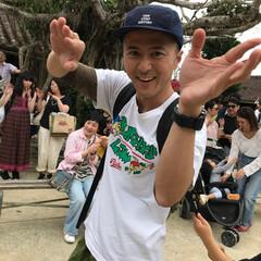 琉球村/わたしのGW 沖縄の琉球村。エイサーと一緒に踊って楽し…