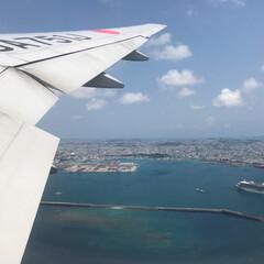 飛行機/わたしのGW 沖縄から帰ってくる飛行機で陸海空を見れて…