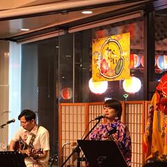 島唄ライブ/わたしのGW 沖縄の琉球衣装をきた人が島唄ライブをして…