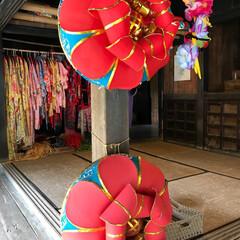 琉球衣装/わたしのGW 沖縄の琉球村。琉球衣装と花笠が素敵。いつ…