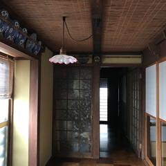 古風/おうち 廊下には骨董品のお皿や木刀が飾られてて、…