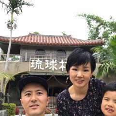 琉球村/わたしのGW 沖縄の琉球村。シーサーと瓦屋根の雰囲気が…