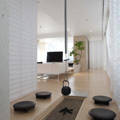 高級住宅/デザイン住宅/豪邸/デザイナーズ住宅/別荘/和室/... モダンな囲炉裏