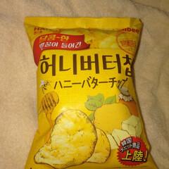 ハニーバターアーモンド/ハニーバター/期間限定/ポテトチップス 美味しかった。(1枚目)