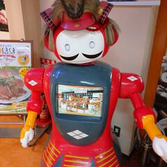 ロボット/クリームパン/サービスエリア/武田信玄/パン/朱色/... ん?コスプレ?  双葉サービスエリアに居…