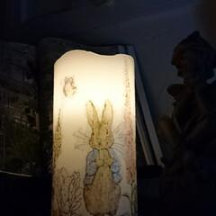紙ナプキン/ピーターラビット/デコパージュ/LEDキャンドル/LED/ランプ/... 200円のLEDキャンドル(ダイソー)に…(2枚目)