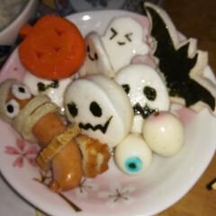 ごはん 子供達が喜ぶハロウィンを、おでんで作って…