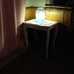 クラッシュストーン/ハンドメイド/DIY/100均/ダイソー/セリア 猫足の珈琲テーブルを貰ったので、過日のダ…