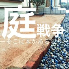 木/石/レンガ/庭/カインズホーム/庭石/... 中古物件なのです。 まだまだ改造途中。が…