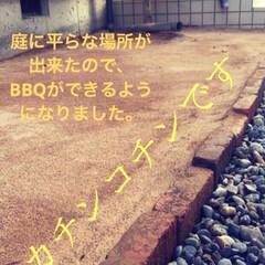 IRIS 超固まる防草砂15Kg 品番:C15-BR | アイリスオーヤマ(砂、砂利)を使ったクチコミ「中古物件なのです。 まだまだ改造途中。が…」(7枚目)