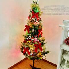 素敵なクリスマスを/クリスマスオーナメント/クリスマスパーティー/イルミネーションライト/クリスマスインテリア/クリスマスツリー/... クリスマスツリー☆   今年はイルミネー…