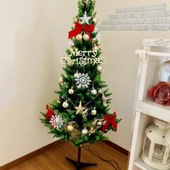 メリークリスマス/ツリーの模様替え/クリスマス/クリスマスツリー/ニトリ/ダイソー/... クリスマスツリー☆    今年は早めにツ…