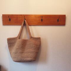 手編み 手作り麻紐バッグ 肩掛け