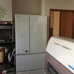 キッチン雑貨 冷蔵庫買い換えました。 奥行きが結構あっ…