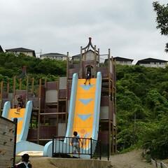 おでかけワンショット  子どもが好きそうな滑り台を探し 1時間…