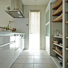 家/不動産・住宅/住まい/新築/新築戸建て/新築住宅/... 奥様のこだわりのキッチン。壁のタイルがア…