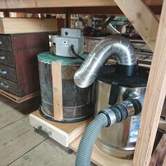 木工/DIY収納/DIY 自作集塵機 Ver.4   2ステージ仕…