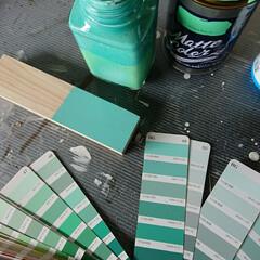 水性塗料/水性 初めて使う水性塗料。 よく「つや消し」の…
