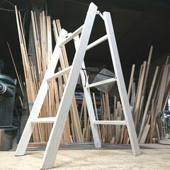 ラダーラック/ラダー/DIY収納/DIY 過去作品です。 【折り畳みラダー】 伸ば…