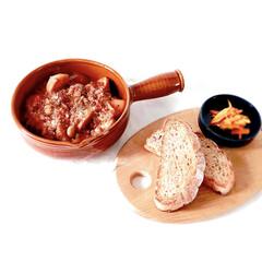 シチュー/スパイス/手作りぱん/低糖質な朝ごはん/朝時間/ヘルシー食/... 今日の朝ごはん  ★スパイシートマトシチ…
