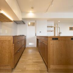 キッチン/木/造り付け
