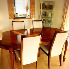思い出/家族/我が家のテーブル/暮らし/フォロー大歓迎 「我が家のテーブル」 5人家族の食事の時…